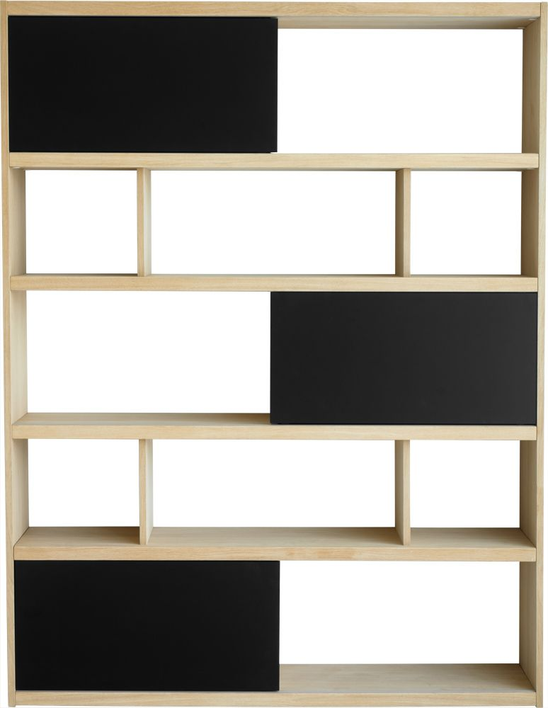 etag re en ch ne naturel et noir mat ebay. Black Bedroom Furniture Sets. Home Design Ideas