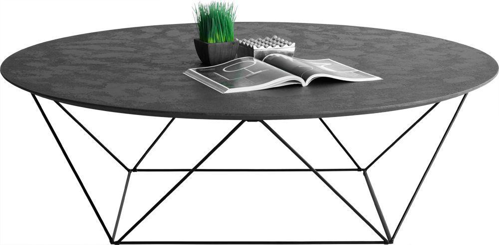 Table m tal noir for Table basse en beton