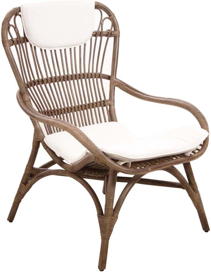 fauteuil en rotin gris vintage. Black Bedroom Furniture Sets. Home Design Ideas