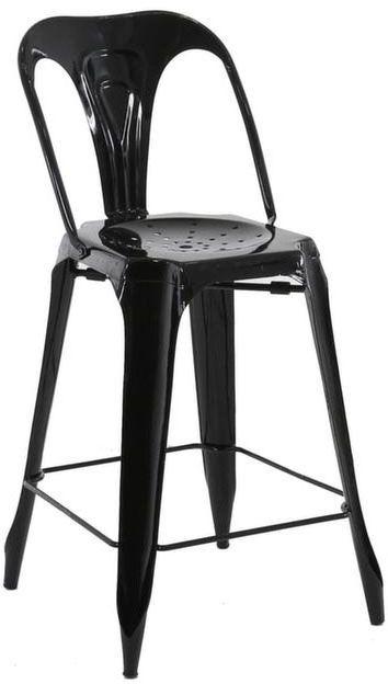 Chaise de bar esprit industriel (Lot de 2)