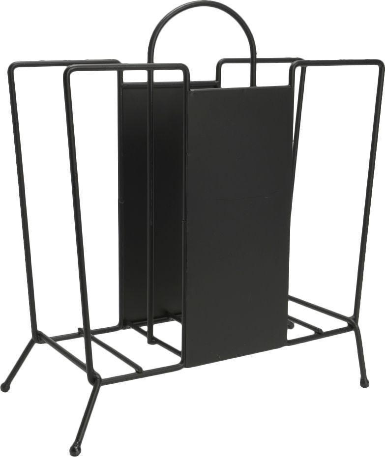 porte revues d co m tal noir ebay. Black Bedroom Furniture Sets. Home Design Ideas