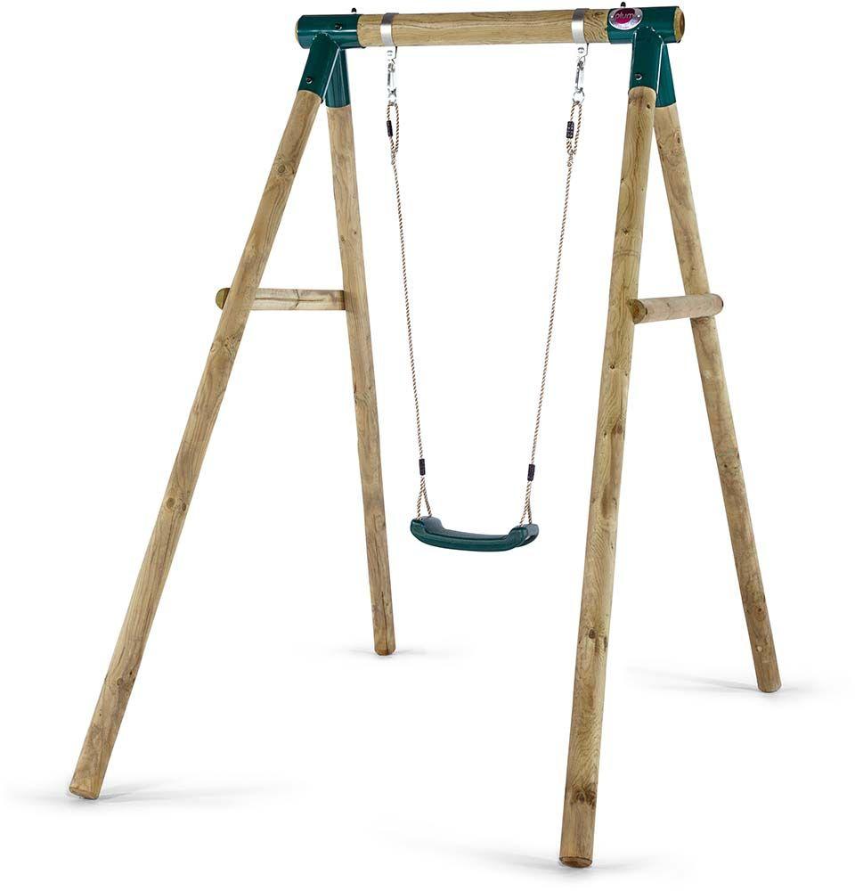 Portique en bois avec balançoire ajustable 1 balançoire