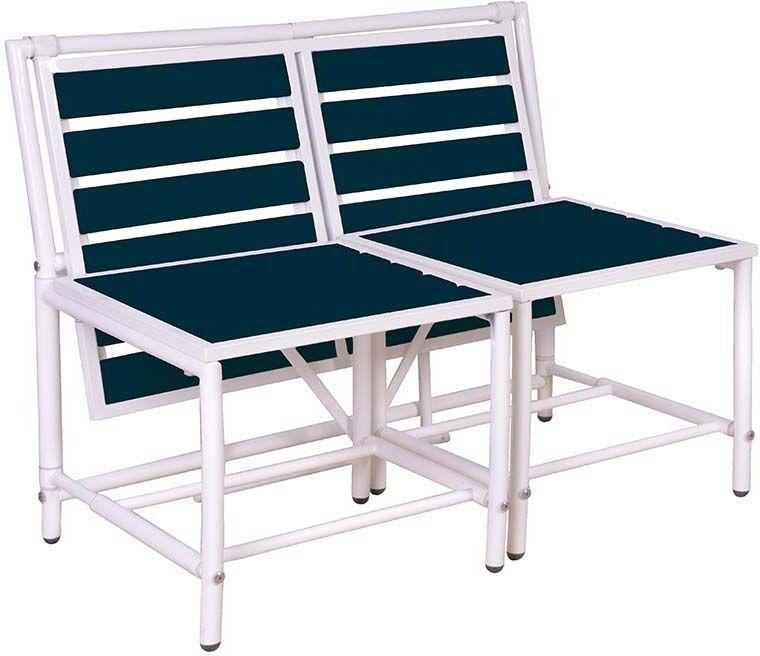 banc 2 places convertible en tables et tabourets ebay. Black Bedroom Furniture Sets. Home Design Ideas