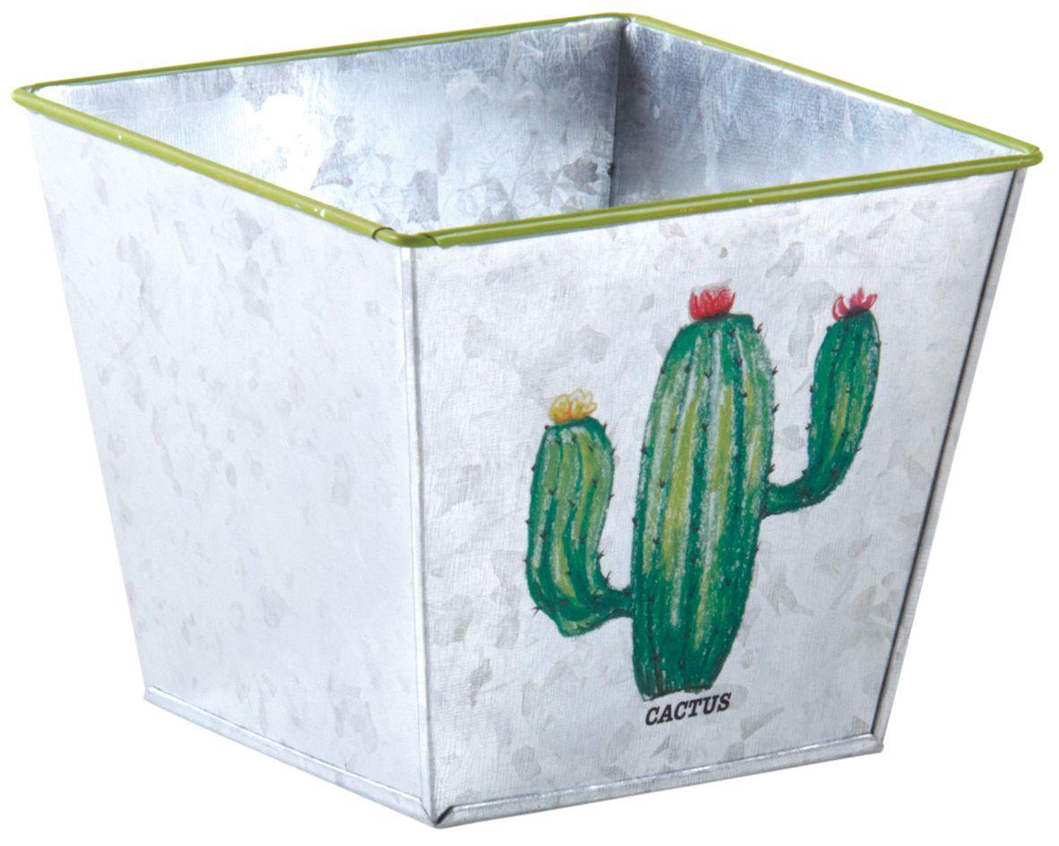 Corbeille-carre-en-metal-galvanise-Cactus