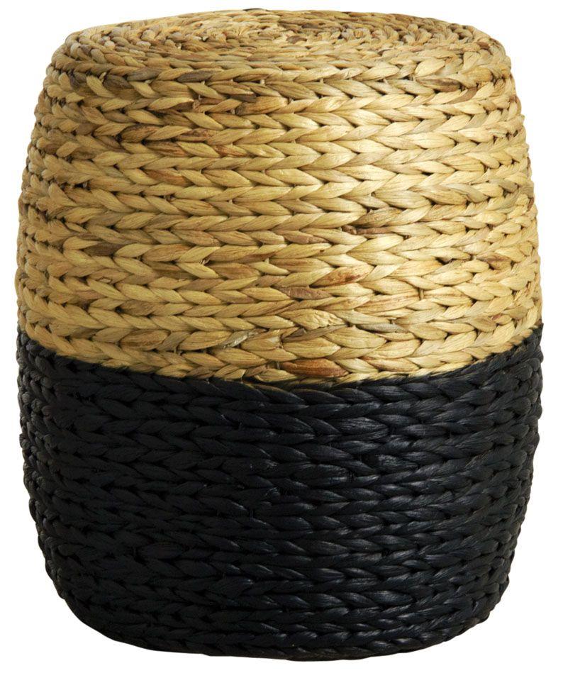 Tabouret-rond-en-jacinthe-bicolore