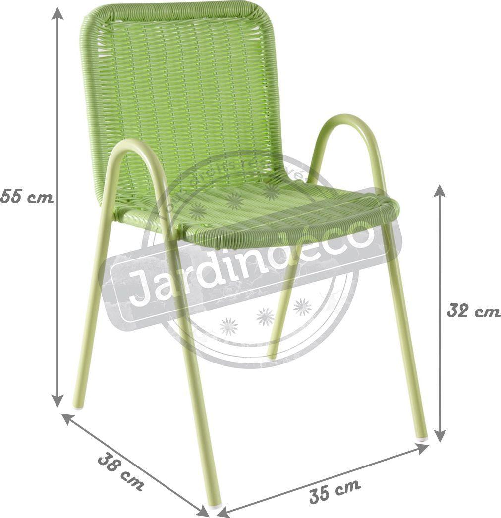 Chaise-enfant-en-polyresine-verte miniature 2