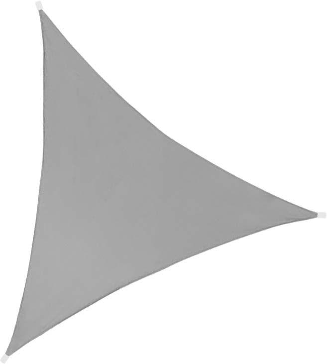 Toile d'ombrage triangulaire 3 mètres