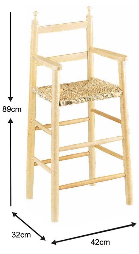 Chaise-haute-pour-enfant-en-hetre miniature 3