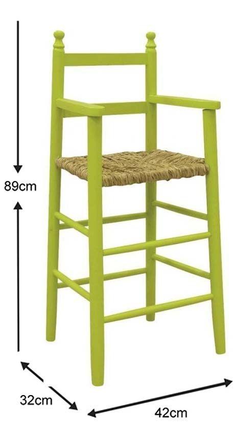 Chaise-haute-pour-enfant-en-hetre miniature 5