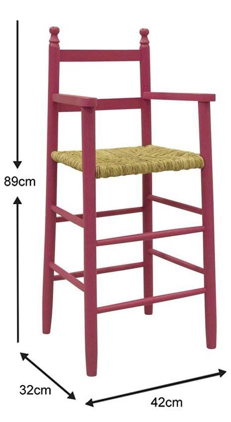 Chaise-haute-pour-enfant-en-hetre miniature 9
