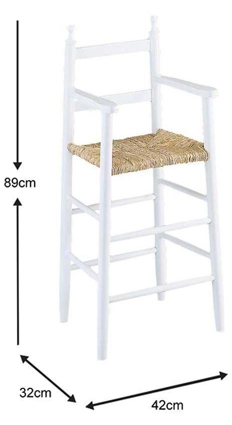 Chaise-haute-pour-enfant-en-hetre miniature 7