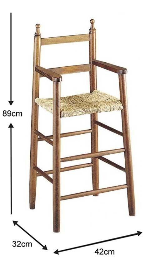 Chaise-haute-pour-enfant-en-hetre miniature 13