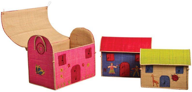 Coffres à jouets Couleurés (Lot de 3)