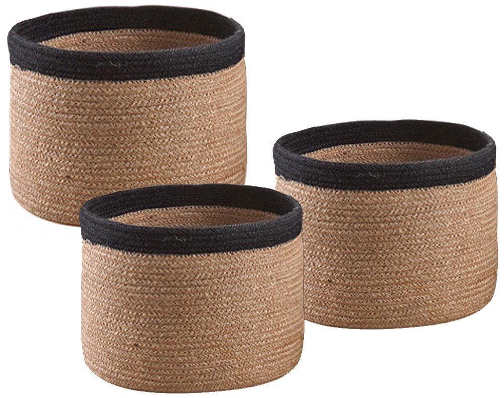 Cache-pot-rond-en-jute-Lot-de-3 miniature 3