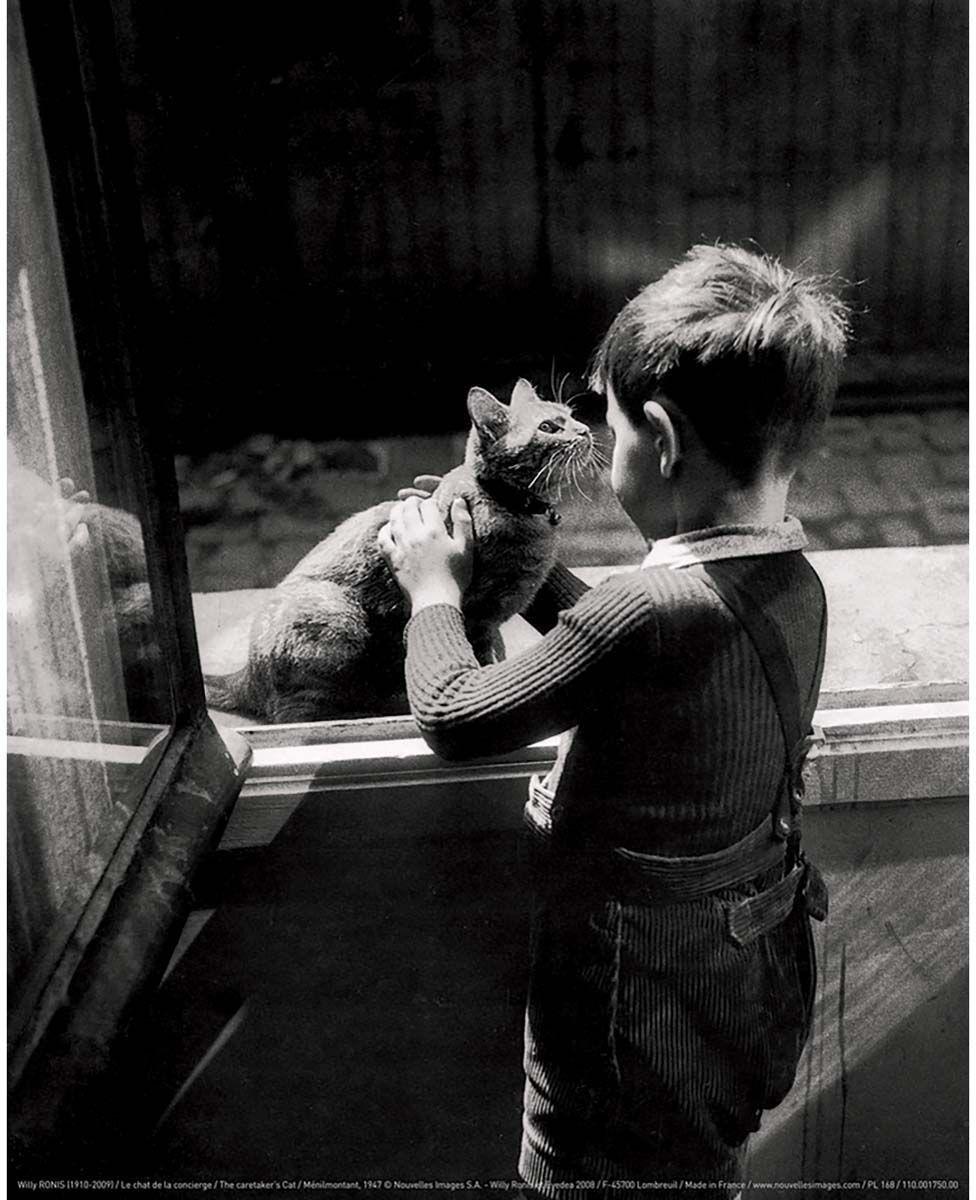 Affiche-Le-chat-de-la-concierge-W-Ronis-24x30-cm