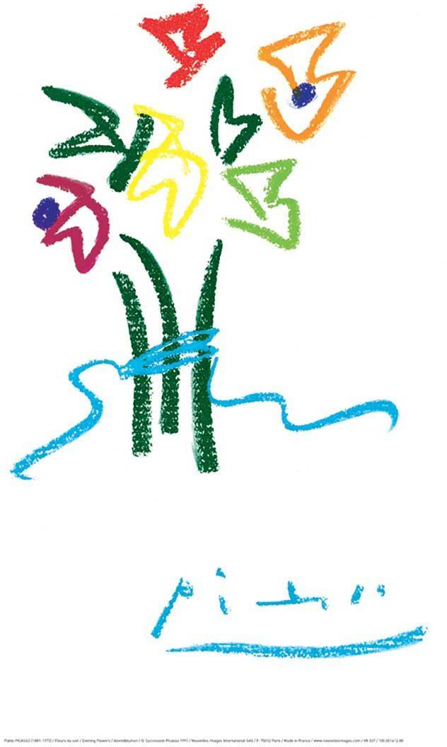 Affiche-Fleurs-du-soir-P-Picasso-40x50-cm