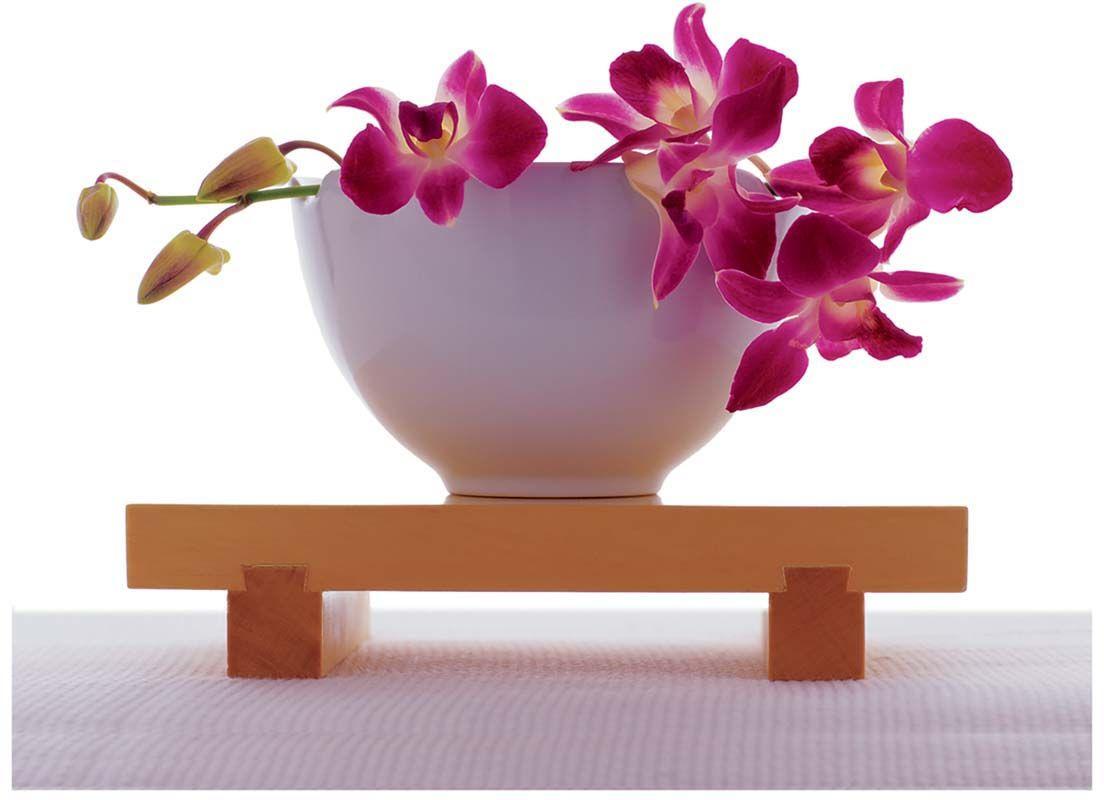 Affiche-Orchidee-rose-dans-un-bol-blanc-40x50-cm