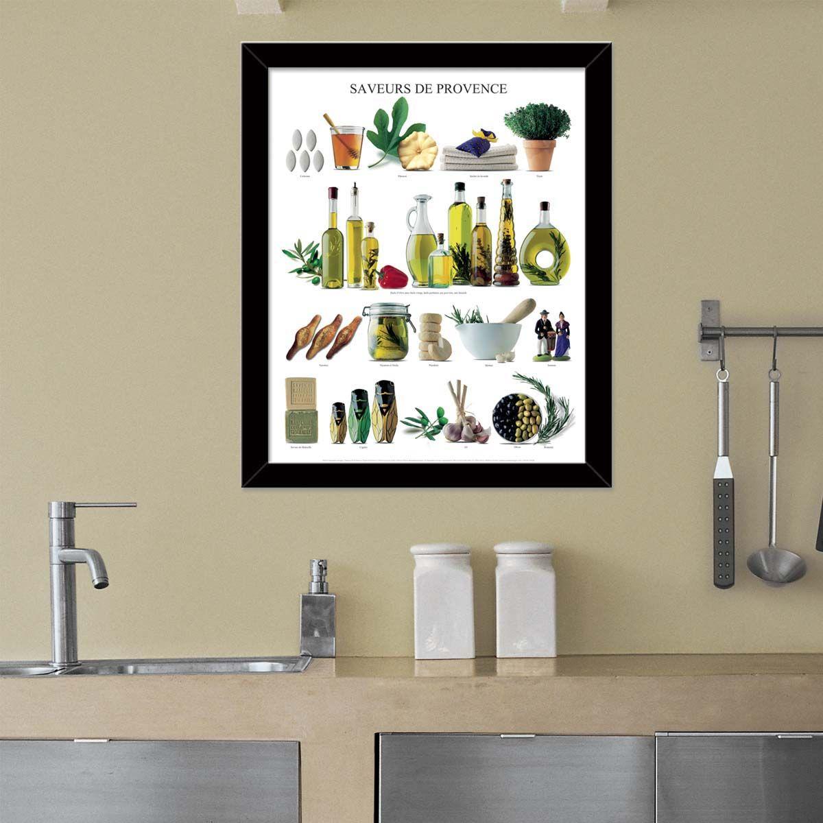 Affiche-Saveurs-de-Provence-40x50-cm miniature 2