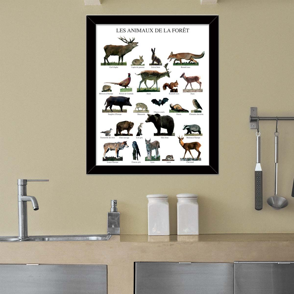 Affiche-Les-animaux-de-la-foret-40x50-cm miniature 2