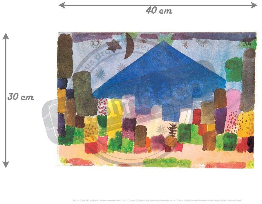 Affiche-Der-Niesen-P-Klee-30x40-cm miniature 2