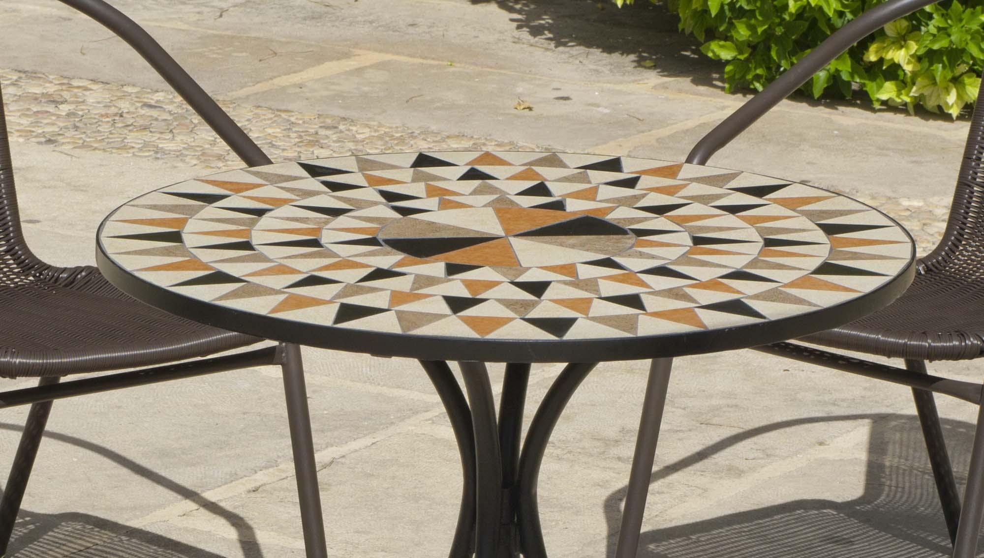 SALON DE JARDIN table ronde mosaïque Albir Brasil - EUR 403 ...