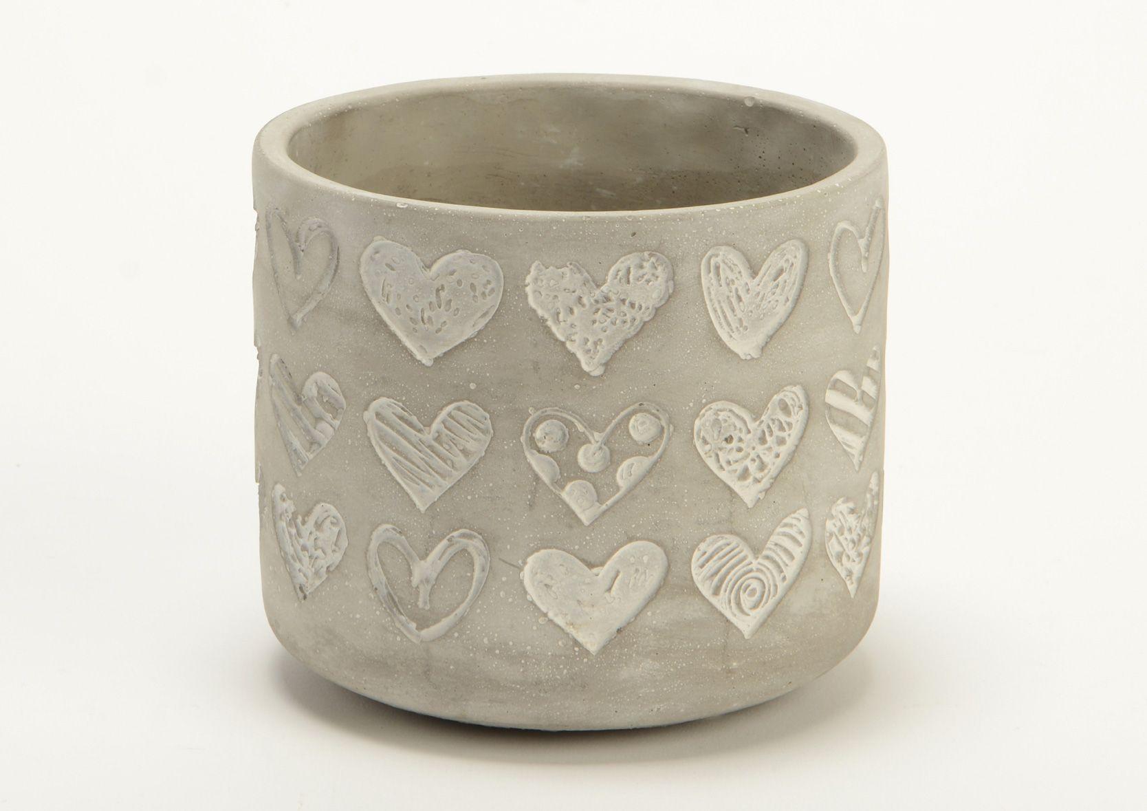 Cache-pot-ciment-Love miniature 2