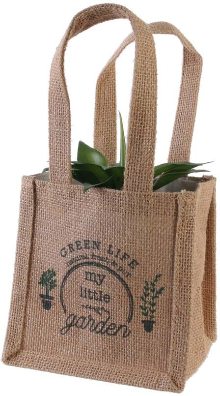 Sac-a-plantation-en-jute-plastifiee-My-Little-Market-14-cm miniature 3