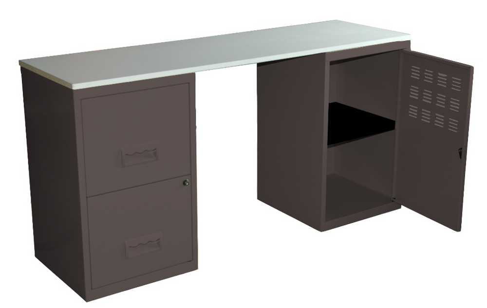Bureau m tal gain de place for Bureau enfant gain de place
